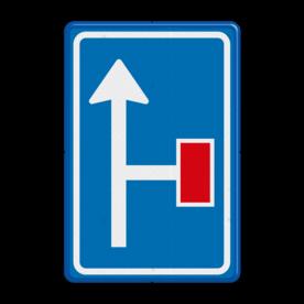 Verkeersbord RVV L09-2r - Doodlopende weg - voorwaarschuwing