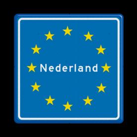 Verkeersbord RVV L403 - Grensbord europa