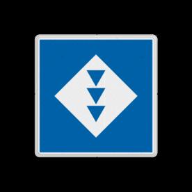 Scheepvaartbord BPR E. 5.15 - Ligplaatsen voor schepen met drie kegels