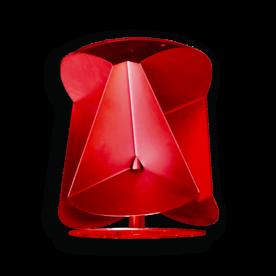 Passieve radarreflector SR6 - 360grd. - ROOD