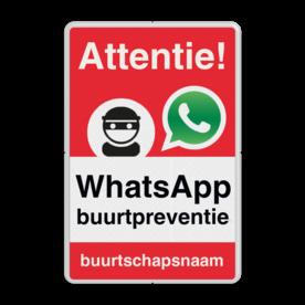 WhatsApp Attentie Buurtpreventie Informatiebord 02 - L209wa-r