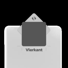 Basisbord omgezette rand - vierkant