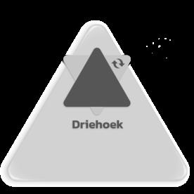 Basisbord omgezette rand - driehoek