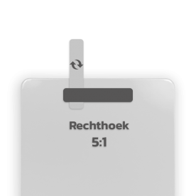 Basisbord omgezette rand - type 5:1 - rechthoek