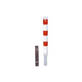 Rampaal Ø193x2000mm, diverse montageopties, verzinkt of wit/rood