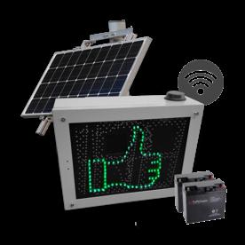 Snelheidsdisplay LED MHP50 solar + lichtmastmontage