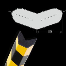 Randbescherming trapezium buitenhoek tweebenig zelfklevend MORION