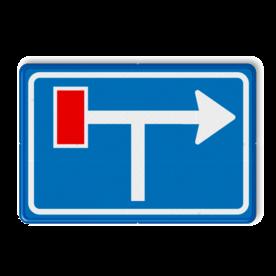Verkeersbord RVV L09-1lt - Doodlopende weg - voorwaarschuwing