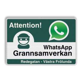 WhatsApp - Sweden - Attention! Grannsamverkan - L209wa-g