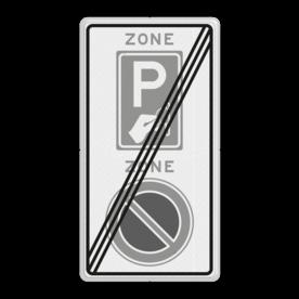 Verkeersbord RVV E01BW111ze - ZONE bord einde