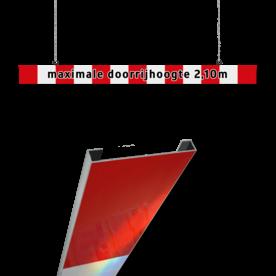 Hoogtebegrenzer 200mm aluminium C profiel + eigen tekst