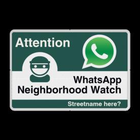 WhatsApp - Englisch - Attention - Neighborhood Watch