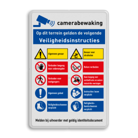 Veiligheidsbord | 10 symbolen + banners