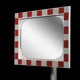 Anti-condens verkeersspiegel 600x400mm RVS