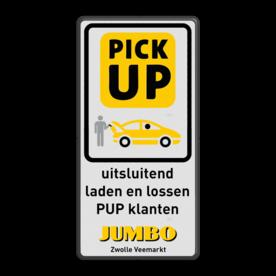 Informatiebord laden lossen PUP klanten JUMBO huisstijl