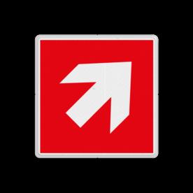 Brand bord F000 - voor trap op richting brandbestrijdingsmiddel