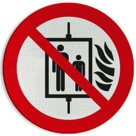 Pictogram P020 - Bij brand lift niet gebruiken