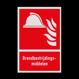 Brand bord F004 - Brandbestrijdingsmiddelen