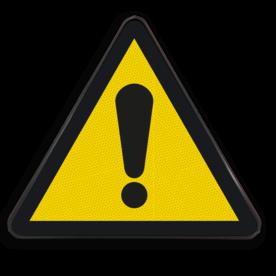 Waarschuwingsbord W001 - Algemeen gevaar