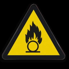 Pictogram W028 - Gevaar voor oxiderende stoffen