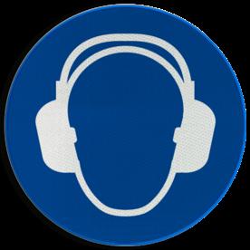 Gebodsbord M003 - Gehoorbescherming verplicht
