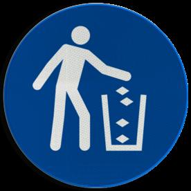 Pictogram M030 - Afvalbak gebruiken