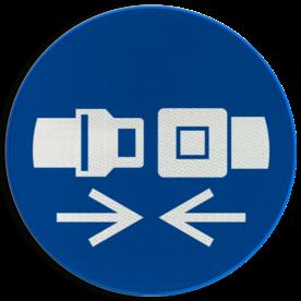 Pictogram M020 - Gordel dragen verplicht