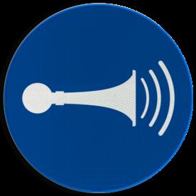 Pictogram M029 - Akoestisch geluidssignaal geven