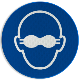 Pictogram M007 - Ondoorschijnende oogbescherming verplicht