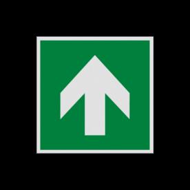 Pictogram E005 - Richting reddingsmiddel