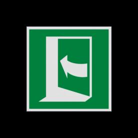 Pictogram E022 - Deur opent door links te drukken
