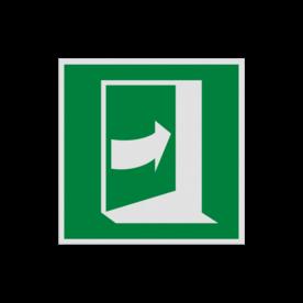 Pictogram E023 - Deur opent door rechts te drukken