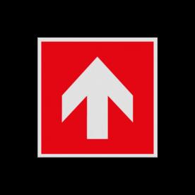 Haaks bord F000 - Pijl rechtdoor