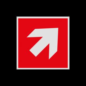 Haaks bord F000 - Pijl Rechts naar boven