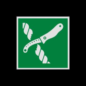 Pictogram E035 - Mes voor reddingsvlot