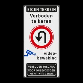 Verkeersbord 500x1000mm et-3txt_F07_video_art461