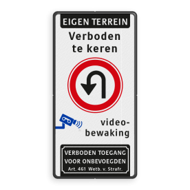 Verkeersbord 500x1000mm et-3txt_F07_video_art461