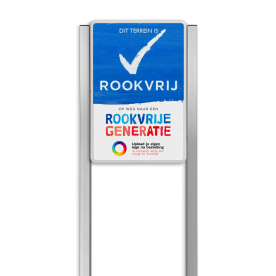 Portaalsysteem TS inclusief ROOKVRIJ-BORD + 2 Geborsteld aluminium staanders