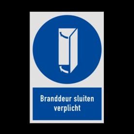 Pictogram MG40 - Branddeur sluiten verplicht