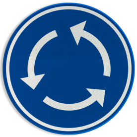 Verkeersbord België D5 - Rotonde - Verplicht rondgaand verkeer