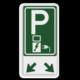 Verkeersbord E08o - afwijkende kleur - oplaadpunt