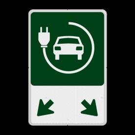 Parkeerplaatsbord - Elektrische voertuigen + pijlen