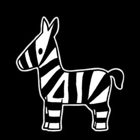 Dick Bruna - Silhouetbord zebra