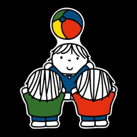 Dick Bruna - Silhouetbord spelende kinderen