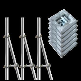 Opstelunit 03 buispaal 3700mm boven maaiveld - compleet met betonvoeten
