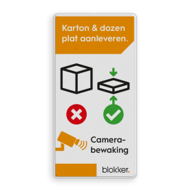 Informatiebord karton en dozen plat maken