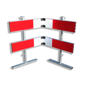 Afzethek 1500mm KLAPBAAR EZ klasse 3 rood/wit