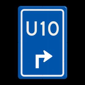 Verkeersbord RVV BW501 - U-bord