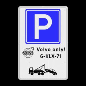 Parkeerbord E04 + automerk en eigen tekst