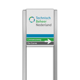 Bedrijfsnaambord reflecterend met luxe staanders - Met logo